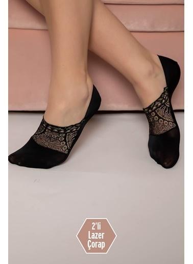 Siyah İnci Çorap Siyah